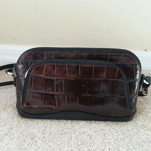 BRIGHTON Brown leather Bag Satchel Tote Handbag